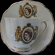 Royal Albert Coronation Tea Cup & Saucer, Queen Elizabeth II
