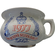The Queen's Silver Jubilee Commemorative Chamber Pot, Homiton Pottery