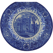 University of Michigan Wedgwood Etruria Blue and White Plates, Set of 8