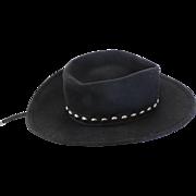 Black Felt Bolero Hat