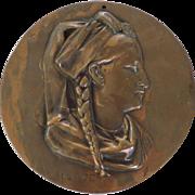 Large High Relief Bronze Plaque, ALSACE