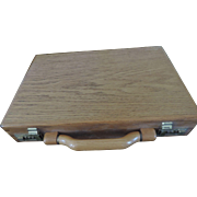 Solid Oak Attache Case