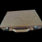 Solid Oak Attache Case