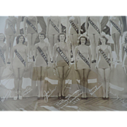 "1949 Miss America Panoramic Photograph, Original Frame, 11"" X 47"""
