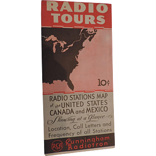 Radio Tours, Radio Stations Map, 1933