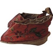 Red Cloth, Embroidered Lotus Shoes, Never Worn