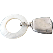 teething Ring, Sterling Silver, Mother Of Pearl