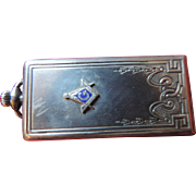 Masonic Sterling Silver Watch Fob/Photo Locket, Alfred Schickerling
