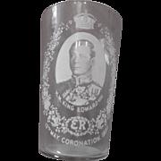 King Edward VIII Coronation Drinking Glass