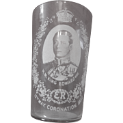 King Edward VIII Coronation Drinking Glass