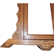 Walnut and Mahogany Marquetry Free Standing Picture Frame
