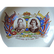 Empire China King George VI, Queen Elizabeth Coronation, 12th May, 1937  Ashtray