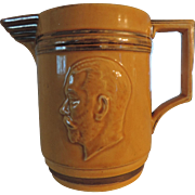 Mason's Ironstone Silver Jubilee of King George V&Queen Mary, Yellow Ware Pitcher, 1935