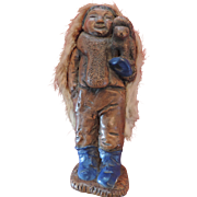 Aleut Molded Doll with Rabbit Fur