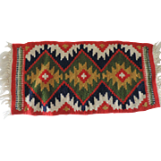 "Small 8 1/2"" X 19"" Navajo Style Woven Rug"
