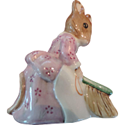 "Beswick Beatrix Potter Figurine, ""Hunca Munca Sweeping"", 1977"