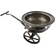 Silverplate Two Wheel Wagon, and Insert, Relish Dish, F.B. Rogers