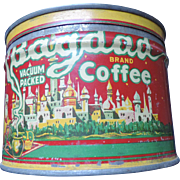 Vintage Bagdad Coffee Tin, One Pound, Haas, Baruch & Co