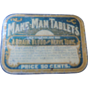 Make Man Tablets Tin, Quack Medicine