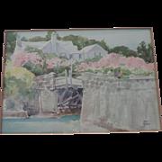 Adolph Treidler Bermuda Prints, Original Frame