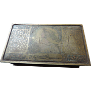 "Whitman's Salmagundi Embossed Candy Box, 7 1/4"" X 4 1/8"" X 2 1/8"""