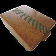 Art Deco Burl Wood Jewelry Box
