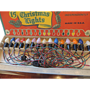 Vintage TOPS Christmas Lights, Original Box