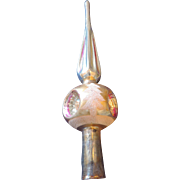 Lanissa Fluted Spire Top Mercury Glass Christmas Tree Topper