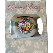 1991 Disney Cast Part Donald Duck Christmas Ornament