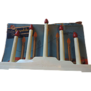 Deluxe Royalite 5 Christmas Candles, Original Box