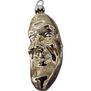 Vintage Mercury Glass Man In The Moon Christmas Tree Ornament, West Germany