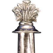 Acanthus Leaf Bottle Stopper, Silver Plated