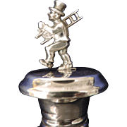 Chimney Sweep Bottle Stopper, Silver Plated