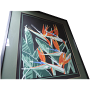 "Deborah Howard Lithograph, Birds Of Paradise, Artists Proof, 27"" X 31"", Professionally Framed"