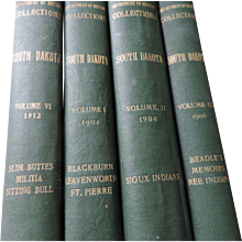 Department of History Collections, South Dakota, Vols  I (1902), II (1904), III (1906), and VI (1912), News Printing Co