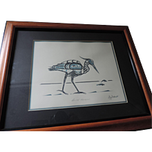 Blue Heron, Jim Gilbert, NW Coast Totemic Art