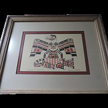 Eagle and Salmon, Print, Henry Hunt, Kwakiutl Artist