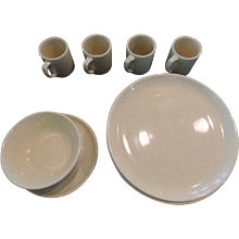 Bauer Al Fresco Yellow Dinnerware, 8 Dinner Plates, 3 Bowls, 3 Mugs