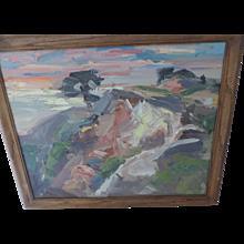"Signed, 15"" X 19""Landscape Oil Painting, Impasto, Palette Knife"