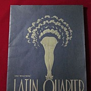 Lou Walters' Latin Quarter Night Club Souvenir Magazine