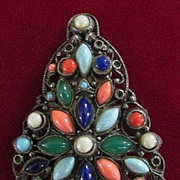 Dress Clip with Opaque Stones in Multiple Colors, Shapes