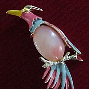 Jelly Belly and Enamel Tropical Bird Pin