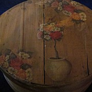 Large Shaker Style Bentwood Cheese Box with Decal on Lid