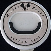 Mickey Mouse White Plastic Record Case