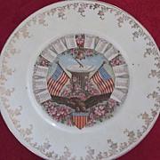 Log Cabin Breakfast Foods 1912 Calendar Plate, American Symbolism