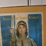 WW1 Framed Poster Joan of Arc War Savings Stamps