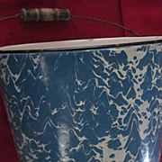 Blue and White Granite Ware Bucket w/ Bail