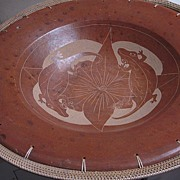 Terra Cotta Bowl with Lizards