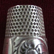 Sterling Silver Flower Engraved Open Top Tailor's Thimble