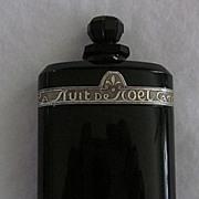 La Nuit De Noel, by Caron, Black Glass Perfume Bottle